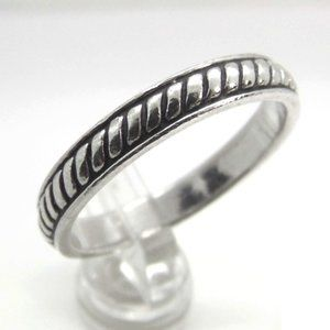 Sterling Silver BAND Twist Ring size 7.25